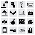 Bank finance icons signs related to money wealth vector graphic this illustration can also represent savings account investments Stock Photo