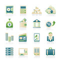 Bank finance icons vector icon set Royalty Free Stock Photos