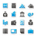 Bank and finance icons vector icon set Stock Photos