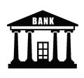 Bank icon Royalty Free Stock Photo
