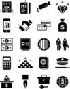Bank icons Royalty Free Stock Photos