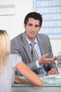 Bank manager Royalty Free Stock Photo
