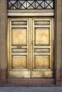 Bank mosiądza drzwi Fotografia Royalty Free