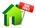 Bank owned property Royalty Free Stock Photos