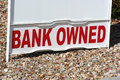 Bank owned property sign Royalty Free Stock Photo