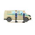 Bank people concept vector illustration in flat style