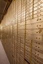 Bank Safe Deposit Boxes Royalty Free Stock Photo