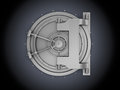 Bank vault d illustration of over black background Royalty Free Stock Photos
