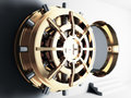 Bank vault door 3d Stock Photography