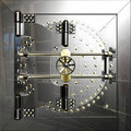Bank vault door the metal Stock Photography