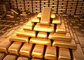 Bank Vault Filled With Gold Bu...