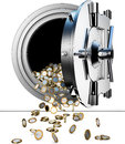 Bank vault high resolution rendering of a Royalty Free Stock Images