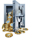 Bank vault high resolution rendering of a Stock Photo