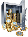 Bank vault high resolution rendering of Stock Photos