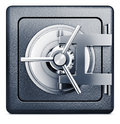 Bank vault high resolution rendering of a icon Royalty Free Stock Photography