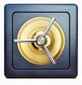 Bank vault high resolution rendering of a icon Stock Photos