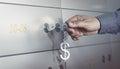 Bank Vault, Safe Deposit Box Royalty Free Stock Photo