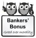Bankers bonuses monochrome banker with uk currency sign isolated on white background Royalty Free Stock Photo