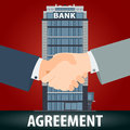 Banking agreement concept.