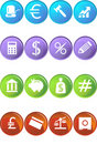 Banking Buttons - 4 Color Royalty Free Stock Photo