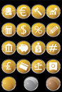 Banking Buttons - Round Shaped Royalty Free Stock Photo