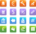 Banking Buttons - Square Shaped Royalty Free Stock Photo