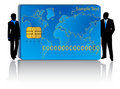 Banking card and business people Stock Image