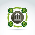 Banking credit and deposit money theme icon vector conceptual s stylish symbol for your design Royalty Free Stock Photo