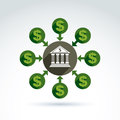 Banking credit and deposit money theme icon, vector Royalty Free Stock Photo