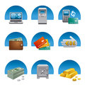 Banking finance icon set Royalty Free Stock Images