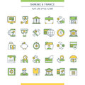 Banking and finance icons set