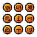 Banking icons, orange series Royalty Free Stock Photo