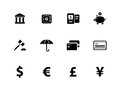 Banking icons on white background vector illustration Royalty Free Stock Images