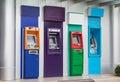 Banking machine or ATM automatic teller machine cash money machine Royalty Free Stock Photo
