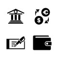 Banking. Simple Related Vector Icons