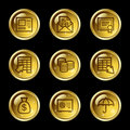 Banking web icons Royalty Free Stock Images
