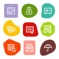 Banking web icons, colour spots series Royalty Free Stock Photography