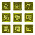 Banking web icons, electronics card series Royalty Free Stock Photo