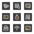 Banking web icons, grey buttons series Stock Photo