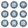 Banking web icons, mineral circle buttons series Royalty Free Stock Photos