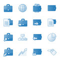 Banking web icons set 1, blue series Stock Photos