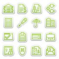 Banking web icons.  Sticker series. Royalty Free Stock Image