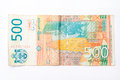 Banknote of five hundred Serbian dinars Royalty Free Stock Photo