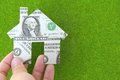 Banknote house icon Stock Photography
