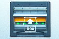 Banknote insert space close up for vending machine Royalty Free Stock Photo