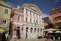 Banknote museum of the ionian bank corfu greece facade located in town island it showcases an almost Stock Photo