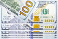 Banknote one hundred dollar united state of america Stock Image
