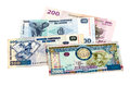 Banknotes of the Congo and Burundi Royalty Free Stock Photos