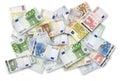 Banknotes euro lot 免版税库存照片