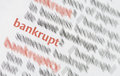 Bankrupt close up of the business word Stock Photo